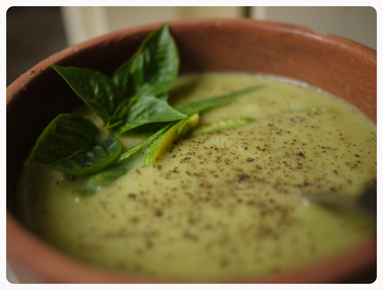 zucchini basil soup | Kitchen In a Suitcase